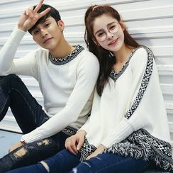 NoonSun - Couple Matching Patterned Knit Pullover