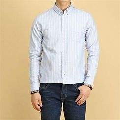 THE COVER - Pocket-Front Pinstriped Shirt