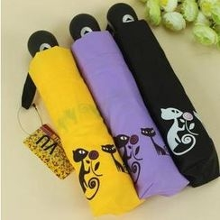 Easily - Cat Print Automatic Folding Umbrella