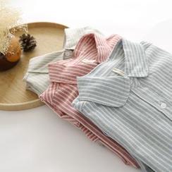 布丁坊 - 條紋襯衫