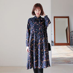 WITH IPUN - A-Line Tiered Dress