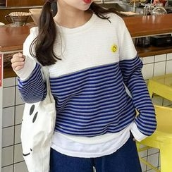 RASA - Striped Panel Pullover