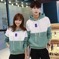 belle epoque - Couple Matching Color Panel Hoodie