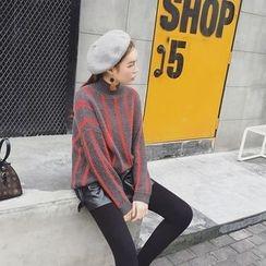 EKOOL - Mock-Neck Striped Sweater