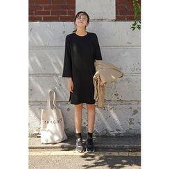 CHERRYKOKO - Long-Sleeve Shift Dress