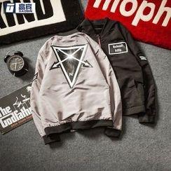 AOBIN - Appliqué Zip Jacket
