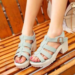 Pangmama - Block-Heel Gladiator Sandals