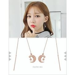 soo n soo - Moon and Star Threader Earrings