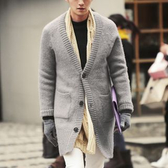Bay Go Mall - Long Knit Jacket