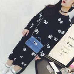 THE XIBI - Eyes Patten Knit Dress