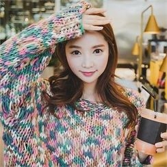 ERANZI - Multicolor Wool Blend Handmade Sweater