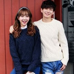 Simpair - Couple Matching Cable Knit Sweater