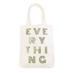 LIFE STORY - Lettering Canvas Shopper Bag