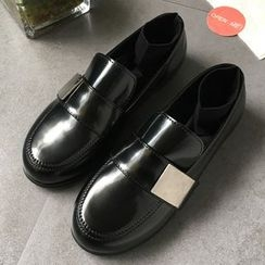SouthBay Shoes - Faux Leather Loafers