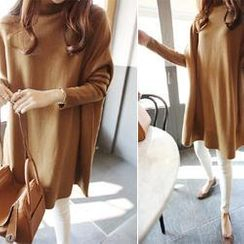 DAILY LOOK - Turtle-Neck Loose-Fit Dress