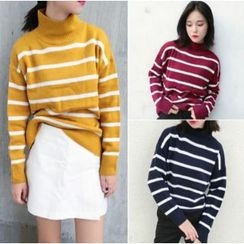 Whitney's Shop - Striped Knit Pullover