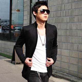 SLIM&FIT - Mandarin Collar Blazer