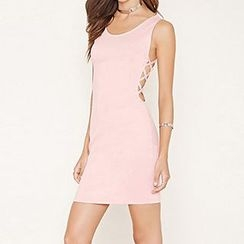 Richcoco - Open Back Sleeveless Dress