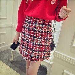 GAGAI - Tweed Pencil Skirt