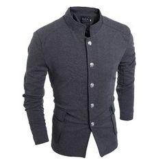 Hansel - Mandarin Collar Blazer
