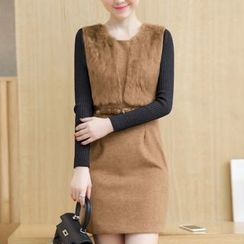 Ekim - Fluffy Knit Dress