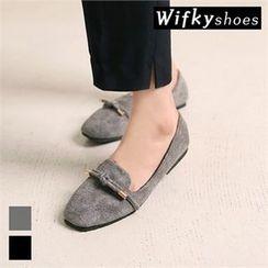 Wifky - Beribboned Faux-Suede Flats