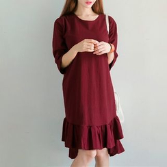Everose - Shift Ruffled Dress