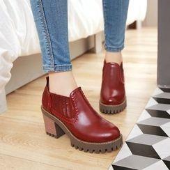 Pastel Pairs - 粗跟厚底鞋
