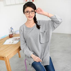 59 Seconds - Pocket-Accent Oversized Pullover