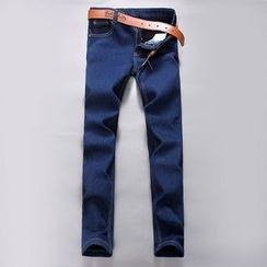 Bay Go Mall - Fleece Lined Straight-Cut Jeans