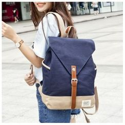 VIVA - Flap Canvas Backpack