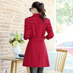 Romantica - Notched-Lapel Double-Breasted Trench Coat