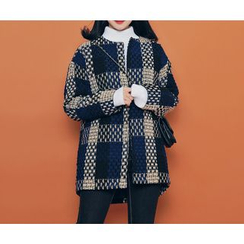 HOTPING - Open-Front Tweed Jacket