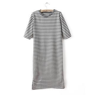 JVL - Short-Sleeve Striped Maxi Dress
