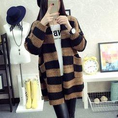 Hibisco - Striped Long Cardigan