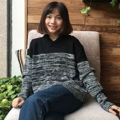 Bloombloom - Melange Panel Sweater