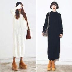 Clospace - Long-Sleeve Knit Maxi Dress