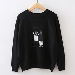 ninna nanna - Cartoon Print Sweater