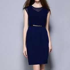 Merald - Plain Sheath Dress