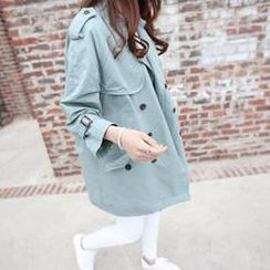 DAILY LOOK - Double-Breasted Flap-Detail Trench Coat