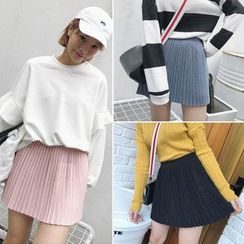 IndiGirl - Pleated Miniskirt
