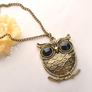 Fit-to-Kill - Carved Owl Necklace - Copper