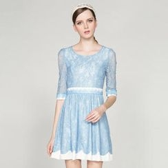 O.SA - 3/4-Sleeve Lace Dress