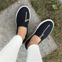 QNIGIRLS - Zip-Detail Slip-Ons