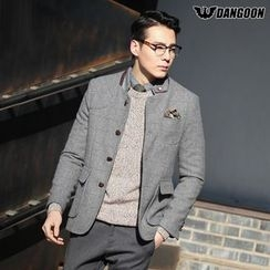 DANGOON - Flat-Pocket Plaid Jacket
