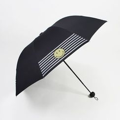 Petrichor - Smiley Print Compact Umbrella