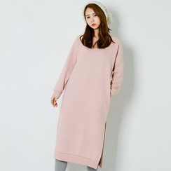 FASHION DIVA - Brushed-Fleece Lined Pullover Dress