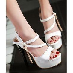 Freesia - High Heel Platform Sandals