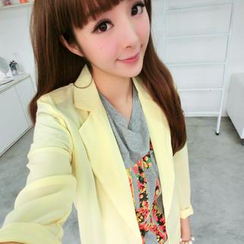 SO Central - Padded-Shoulder Single-Button Blazer
