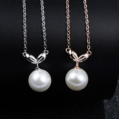 Zundiao - Sterling Silver Necklace with Real Pearl
